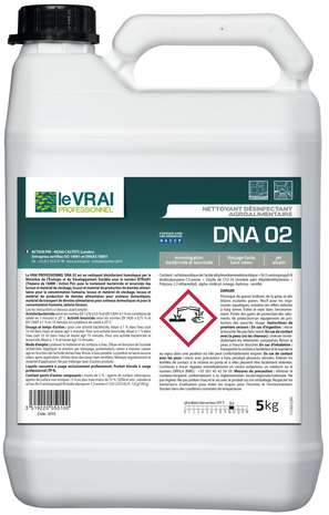 VRAI PRO DNA 02 NETTOYANT DESINFECTANT AGROALIMENTAIRE 5L