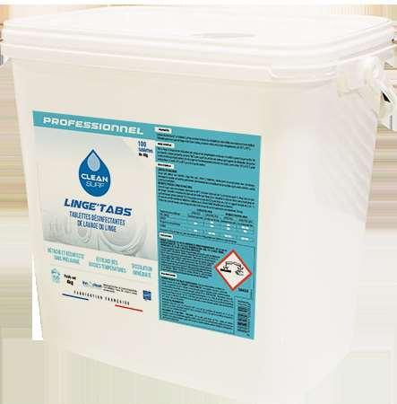 CLEAN SURF LINGE TABS DESINFECTANTE x 100 pastilles SEAU 4kg