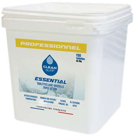 CLEAN SURF ESSENTIAL 'LAVAGE 3 en 1' x 150 doses SEAU 3kg