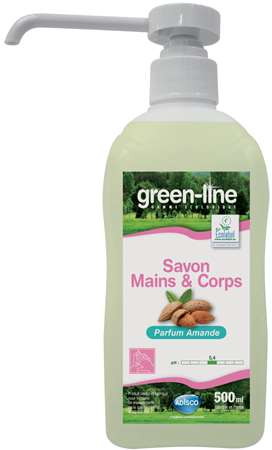 GREEN-LINE SAVON MAINS & CORPS 500ml x 20
