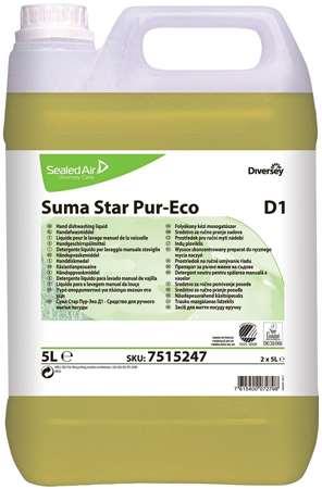 SUMA STAR Pur-Eco D1 LIQUIDE VAISSELLE MANUELLE 5L x 2