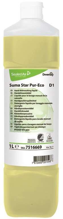 SUMA STAR Pur-Eco D1 LIQUIDE VAISSELLE MANUELLE 1L x 6