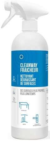 CLEANWAY FRAICHEUR NETTOYANT DEGRAISSANT SURFACES 750ml x 6