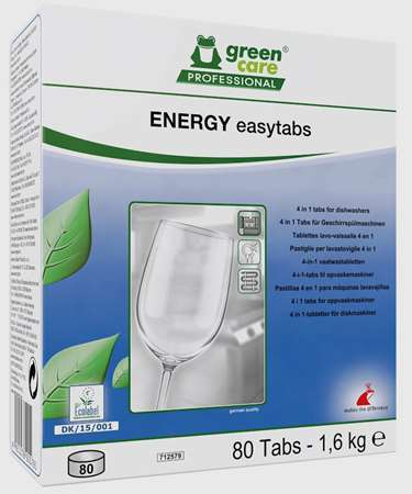 GREEN CARE ENERGY EASYTABS LAVAGE LAVE-VAISELLE Boite 80tabs