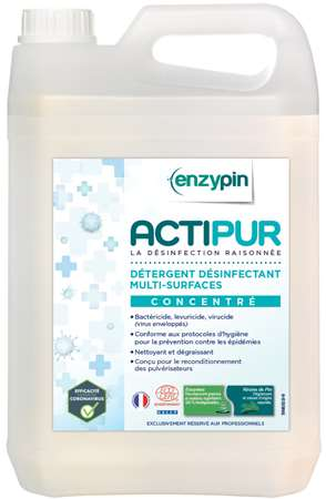 ENZYPIN ACTIPUR MULTI-SURFACES CONCENTRE ECOCERT 5L