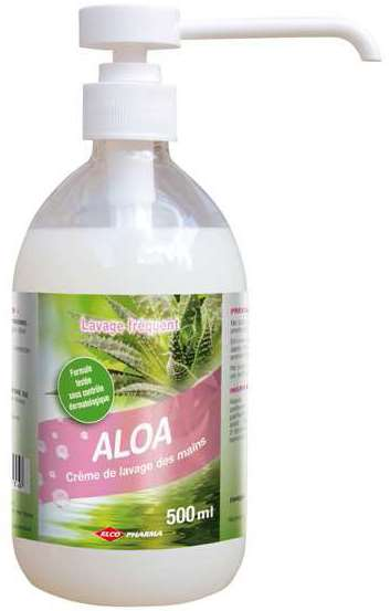 POUSS'MOUSSE CREME MAINS ALOE VERA 500ml