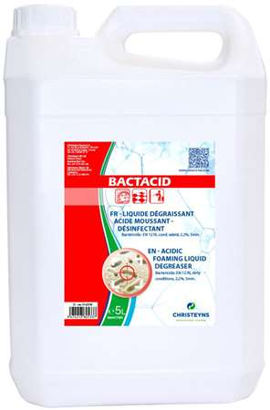 BACTACID DEGRAISSANT DESINFECTANT ACIDE MOUSSANT 5L