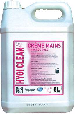 HYGI'CLEAN CREME MAINS NACRE ROSE 5L