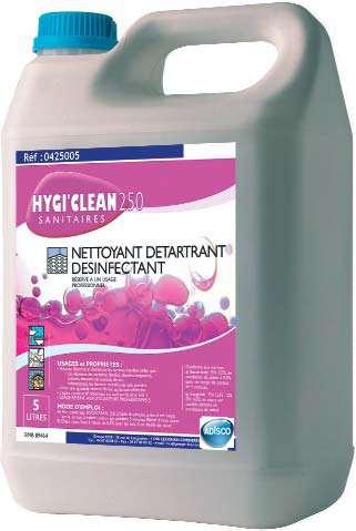 HYGI'CLEAN 250 NETTOYANT DETARTRANT DESINFECTANT 5L