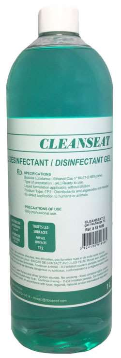 RECHARGE GEL DESINFECTANT 'CLEANSEAT' 1L x 6