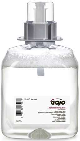GOJO FMX MILD ANTIMICROBIAL MOUSSE MAINS 1250ml x 3