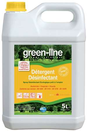 GREEN-LINE SPRAY DETERGENT DESINFECTANT ECOCERT 5L