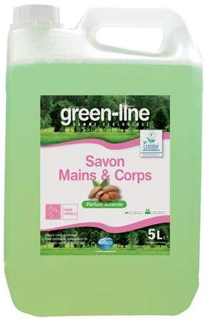GREEN-LINE SAVON MAINS & CORPS AMANDE 5L