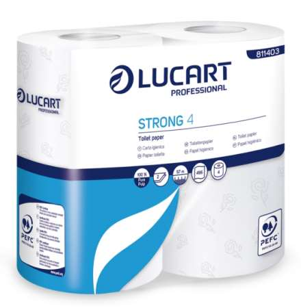 PAPIER TOILETTE STRONG PURE OUATE 2F PEFC 500cp x 56rlx