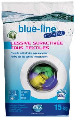 BLUE-LINE CRISTAL LESSIVE SURACTIVEE TOUS TEXTILES 15kg